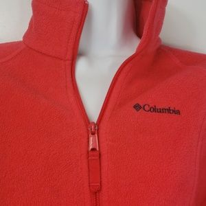 Columbia full zip fleece coral sz S